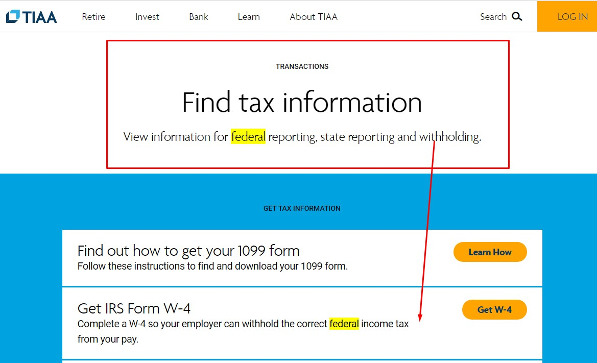What is the federal ID number for TIAA?