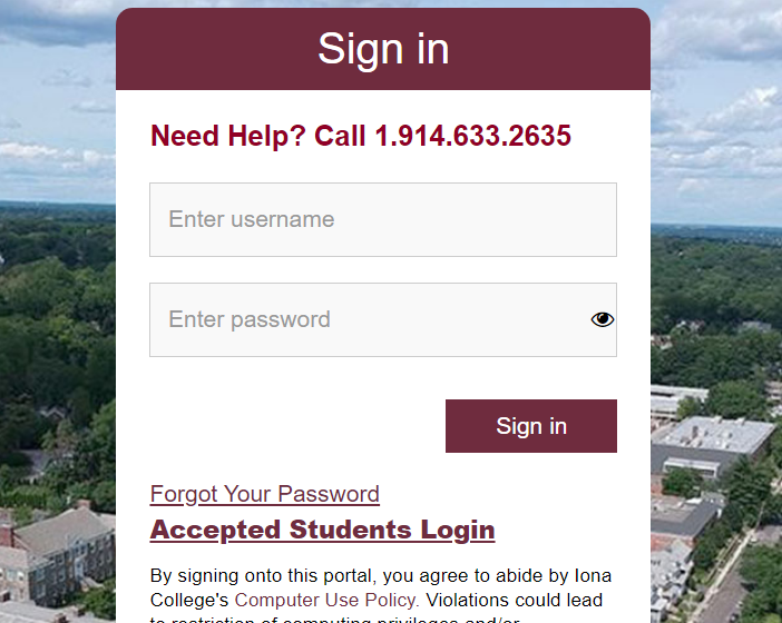 How To Iona login & Forgot Your Password